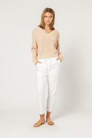 NUDE LUCY - Kimber V Neck Knit, Blush