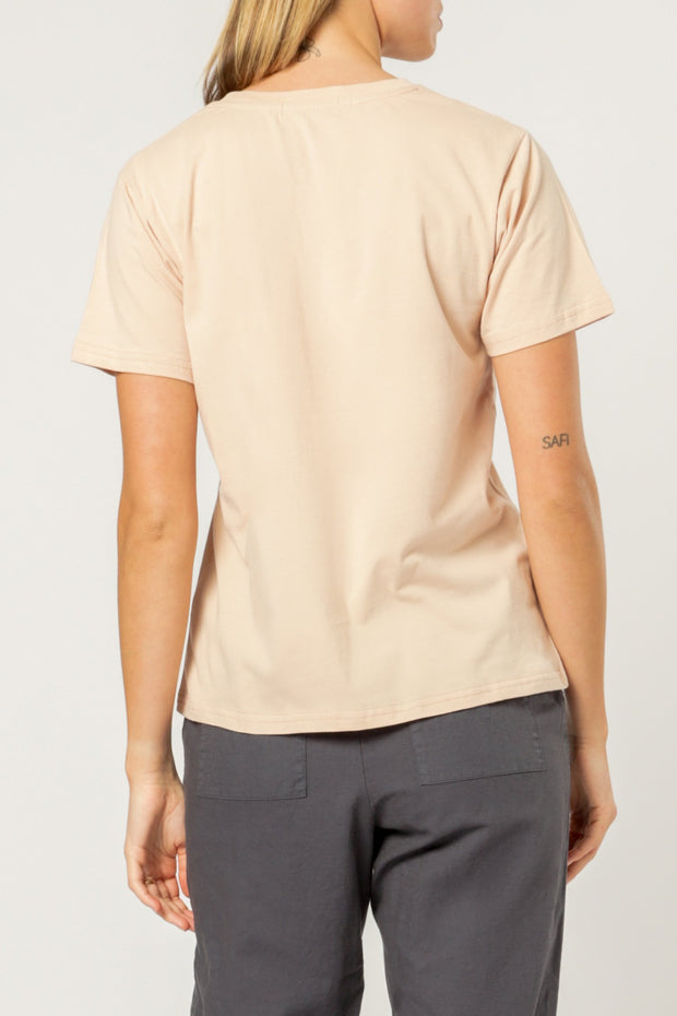 NUDE LUCY - Nude Lucy Embr Slogan Tee, Blush
