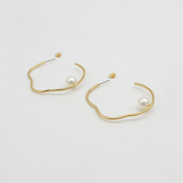 JOLIE & DEEN - Bella Hoops, Gold
