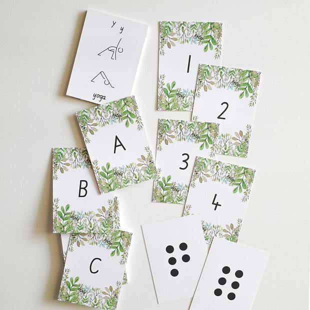 SPARE TIME CO - Alphabet & Number Flash Cards, The Nature Collection - Makers On Mount