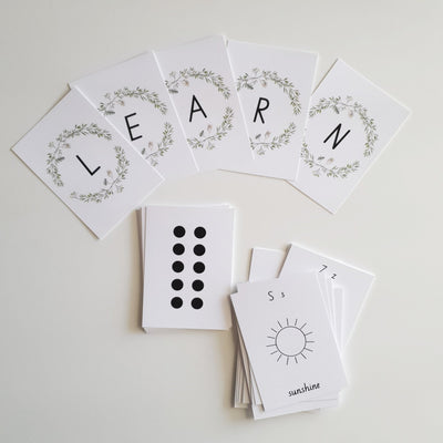 SPARE TIME CO - Alphabet & Number Flash Cards, The Brynn Collection