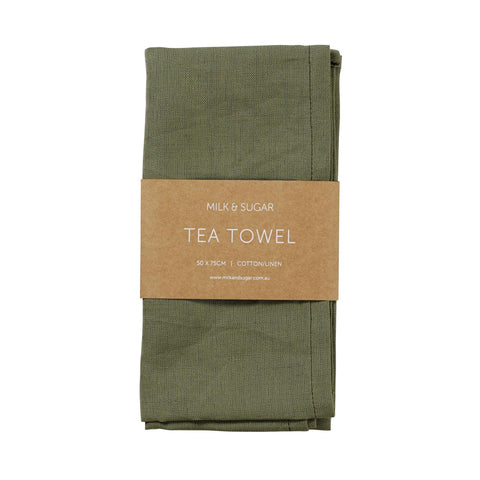 MILK & SUGAR - Cotton/Linen Tea Towel, Jungle