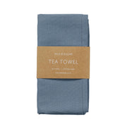 MILK & SUGAR - Cotton/Linen Tea Towel, Steel Blue