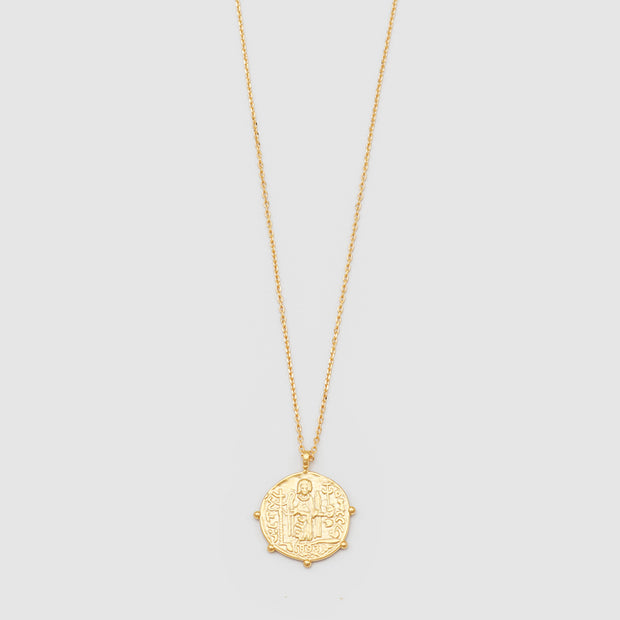 JOLIE & DEEN - Aztec Coin Necklace, Gold