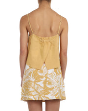 NUDE LUCY - Marley Linen Cami, Washed Mustard - Makers On Mount