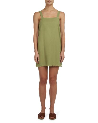 NUDE LUCY - Blake Linen Dress, Moss - Makers On Mount