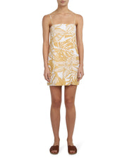NUDE LUCY - Marley Linen Dress, Mustard Print - Makers On Mount