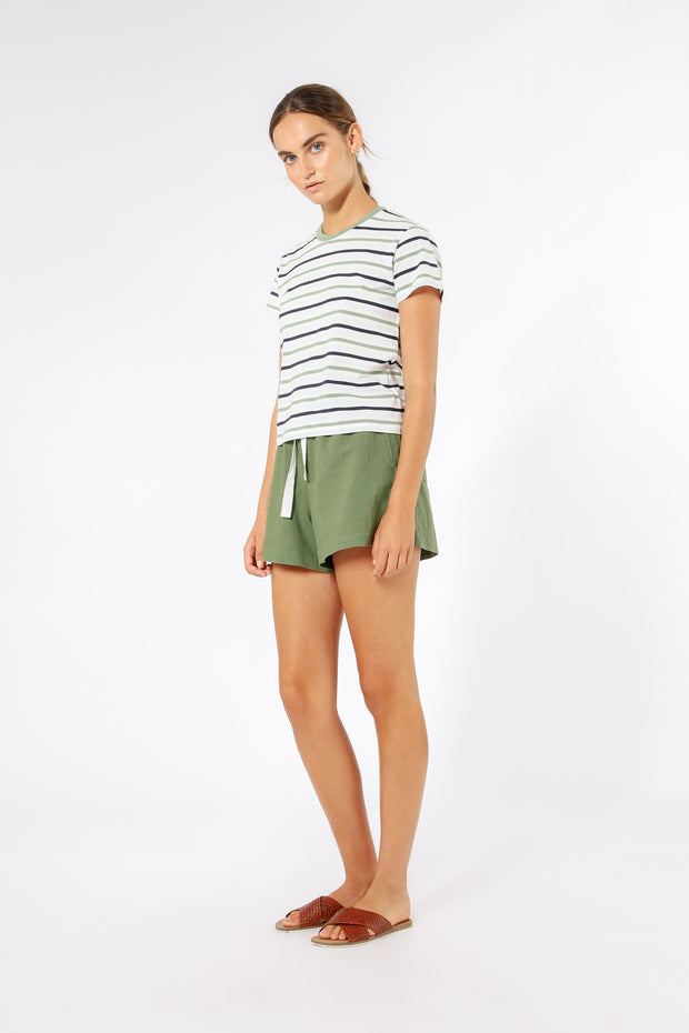 NUDE LUCY - Regan Tee, Multi Stripe - Makers On Mount
