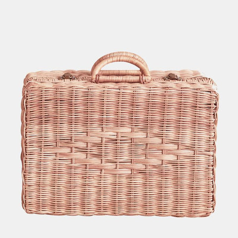 OLLI ELLA - Toaty Rattan Trunk, Rose - Makers On Mount