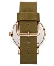 THE HORSE - The Resin Watch, Nougat Shell/White Dial/Olive Band - Makers On Mount