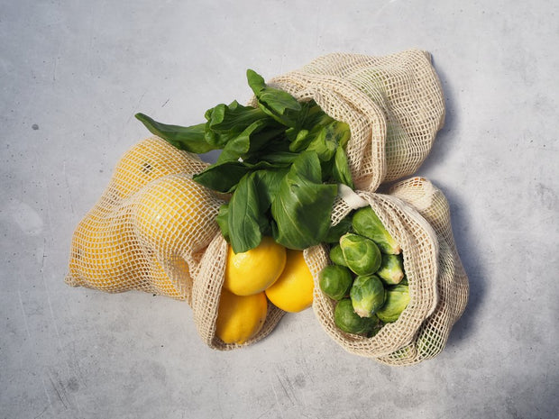 POPLAR - Cotton Produce Bag, 3 pack