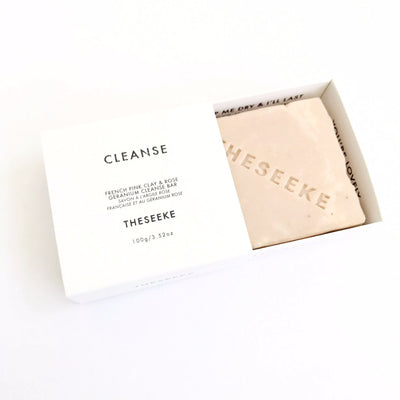 THESEEKE - French Pink Clay & Rose Geranium Cleanse Bar