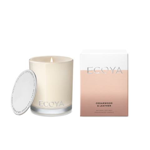 ECOYA - Cedarwood & Leather, Mini Madison Candle - Makers On Mount
