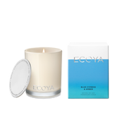 ECOYA - Blue Cypress & Amber, Mini Madison Candle - Makers On Mount