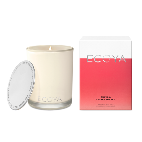 ECOYA - Guava & Lychee Sorbet, Madison Candle - Makers On Mount