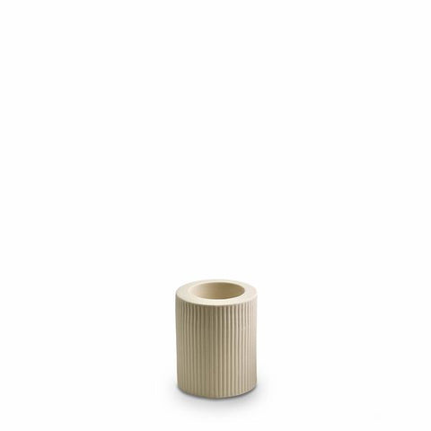 MARMOSET FOUND - Ribbed Infinity Candle Holder Cream, Medium