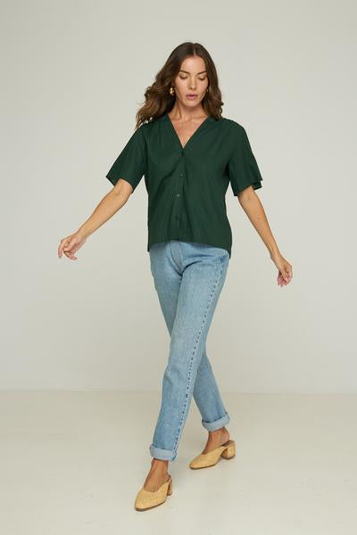 RUE STIIC -  Brighton Shirt, Emerald