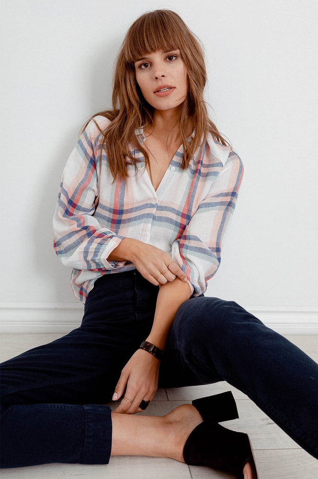 RAILS - Natalie, White Melon Sage Shirt