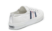 SUPERGA - 2750 Cotucotmetflagside, White, Navy & Pink - Makers On Mount