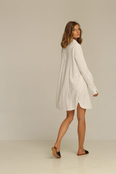RUE STIIC - Estrella Shirt Dress, White