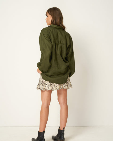 RUE STIIC - Clapton Oversized Shirt, Mustang Green - Makers On Mount