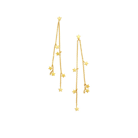 JOLIE & DEEN - Mae Star Stirling Silver Earrings, Gold - Makers On Mount