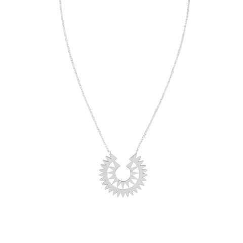JOLIE & DEEN - Tulum Sterling Silver Necklace, Silver - Makers On Mount