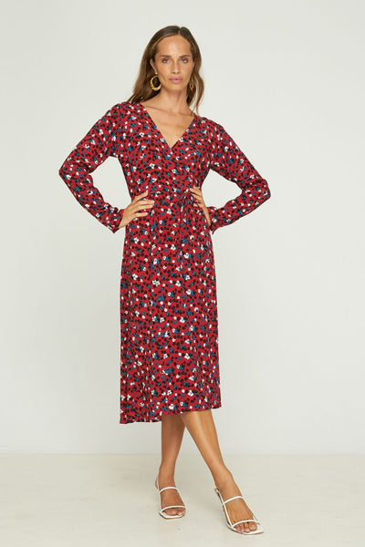 RUE STIIC -  Rincon Wrap Dress, Stevie Floral