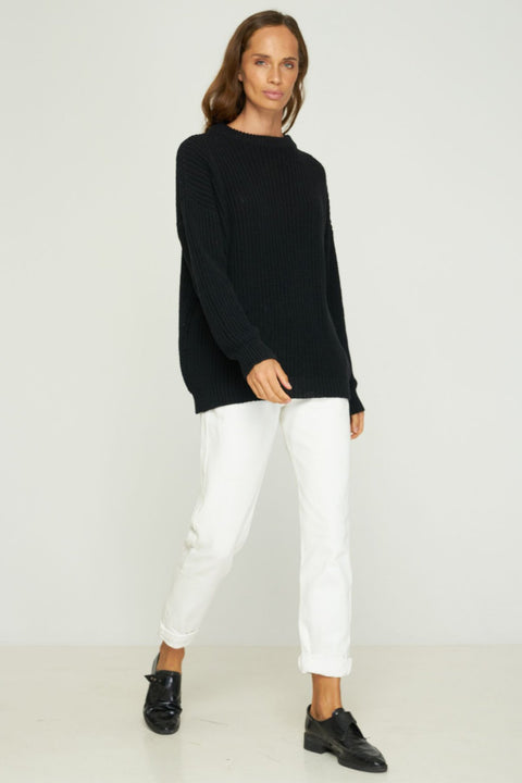 RUE STIIC - Beverly Boyfriend Sweater, Black
