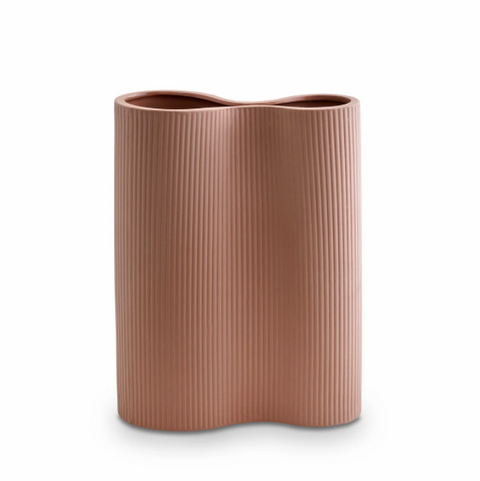 MARMOSET FOUND - Ribbed Infinity Vase Ochre, Medium