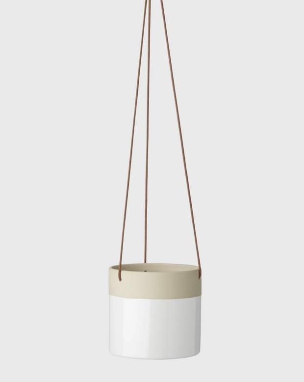 EVERGREEN COLLECTIVE - Billie Hanging Pot Small, White