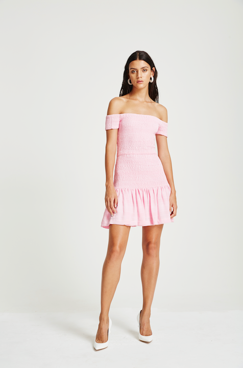 VÉSTIRE - Cara Dress, Iced Pink - Makers On Mount