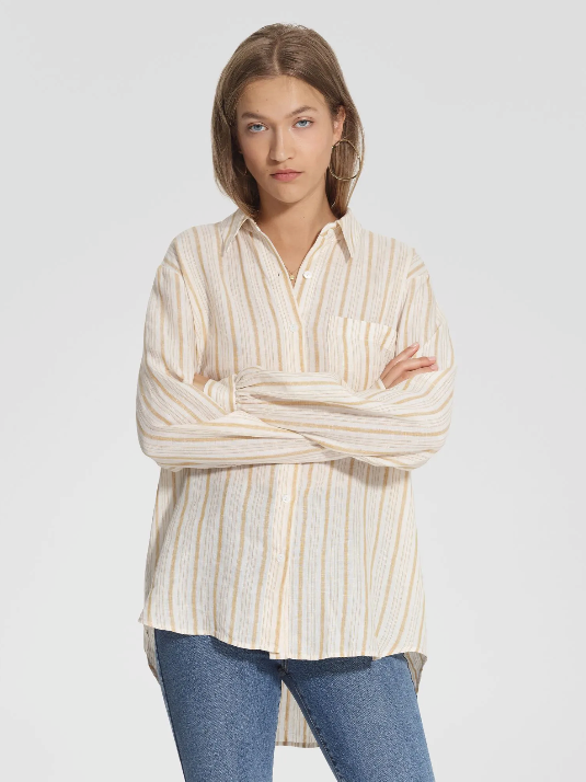 NOBODY DENIM - Roque Shirt, Saffron