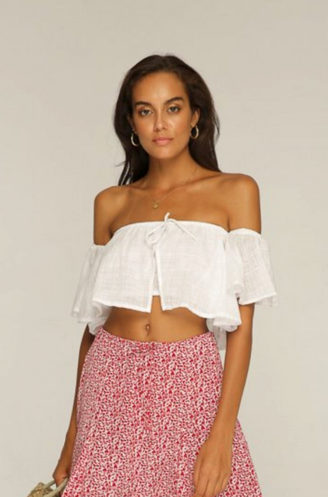 RUE STIIC - Jagger Off Shoulder Top, White - Makers On Mount