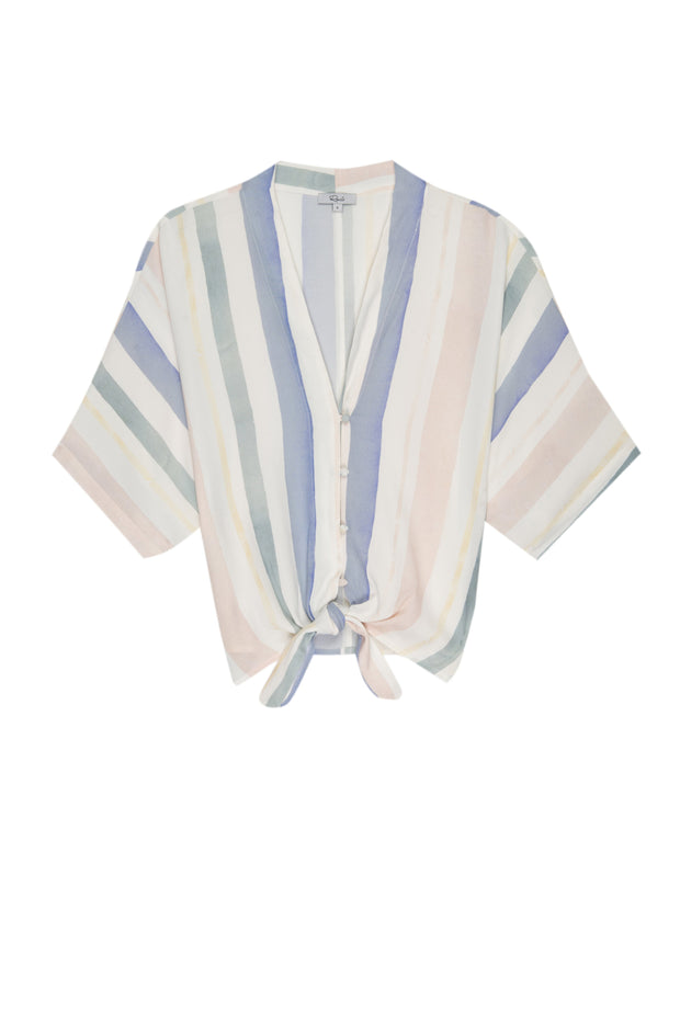 RAILS - Thea, Pastel Watercolour Stripe Top - Makers On Mount