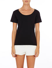 NUDE LUCY - Jamie Basic Scoop Neck Tee
