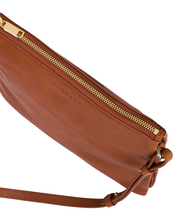 THE HORSE - Two Fold Cross Body Bag, Tan - Makers On Mount