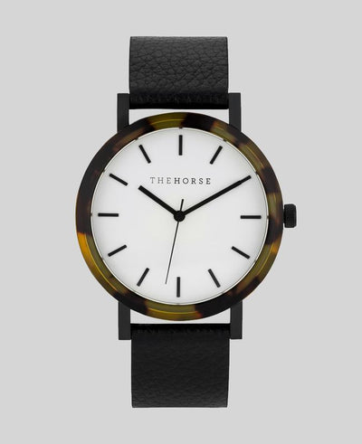 THE HORSE - The Resin Watch, Black/White - Makers On Mount