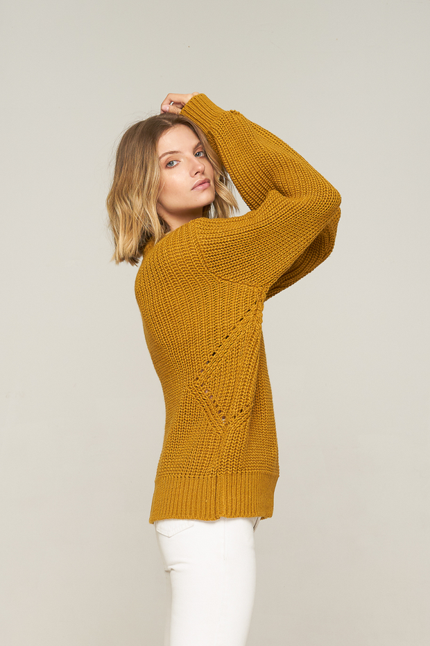 RUE STIIC - Jimmi Pleat Knit, Tobacco