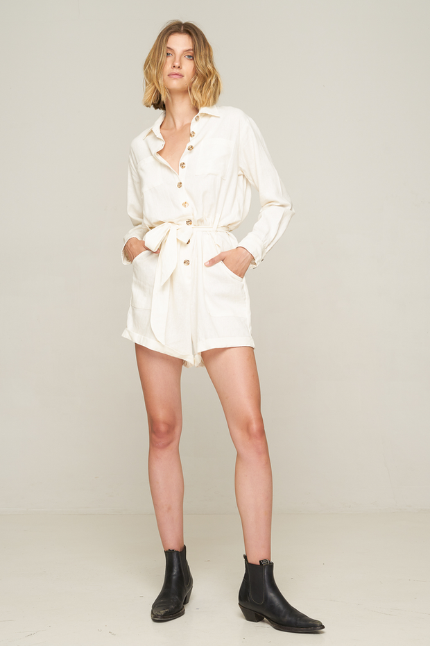 RUE STIIC - Jett Romper, White - Makers On Mount