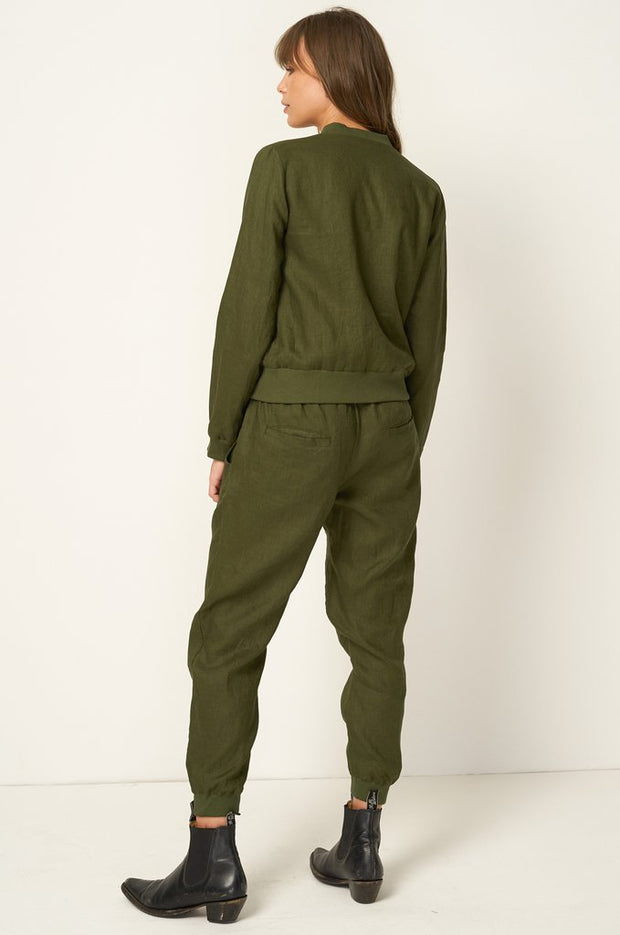 RUE STIIC - Wilson Bomber Jacket, Mustang Green - Makers On Mount