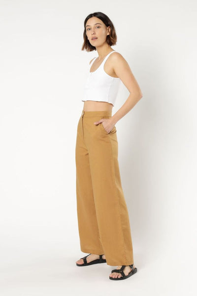 NUDE LUCY - Kora Wide Leg Pant, Tobacco