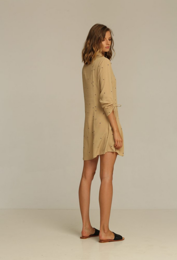 RUE STIIC -  Xavier Mini Dress, Sand Rays