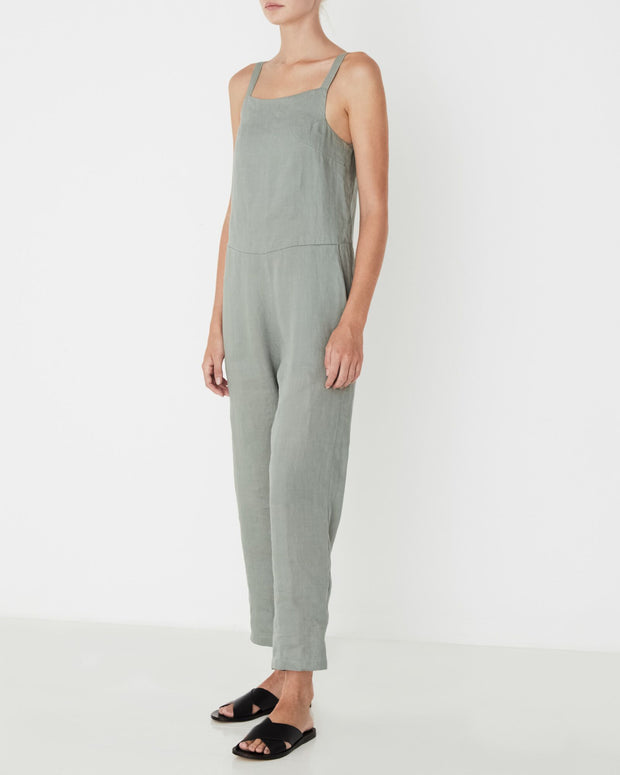ASSEMBLY LABEL - Pinafore Jumpsuit, Seagrass - Makers On Mount
