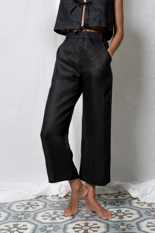 ARTHUR - Cropped Trouser, Ebony