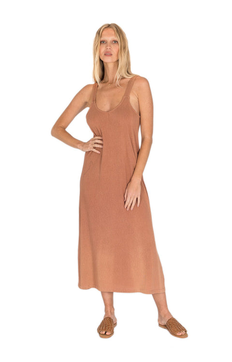 THE BARE ROAD - Bella Hemp Dress, Maple Brown - Makers On Mount