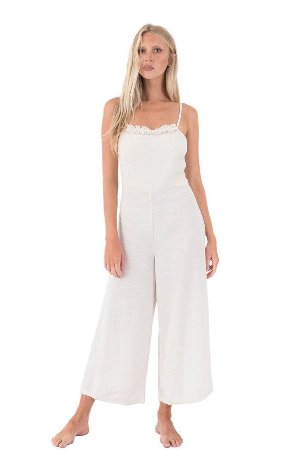 THE BARE ROAD - Biarritz Jumpsuit, Natural - Makers On Mount