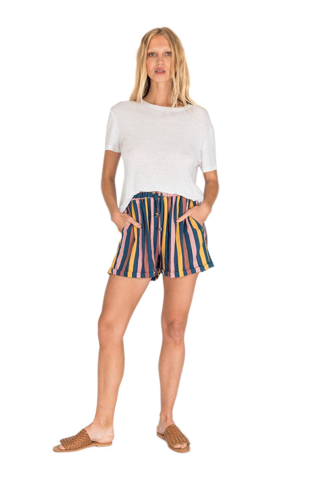 THE BARE ROAD - Billie Short, Multi Stripe - Makers On Mount