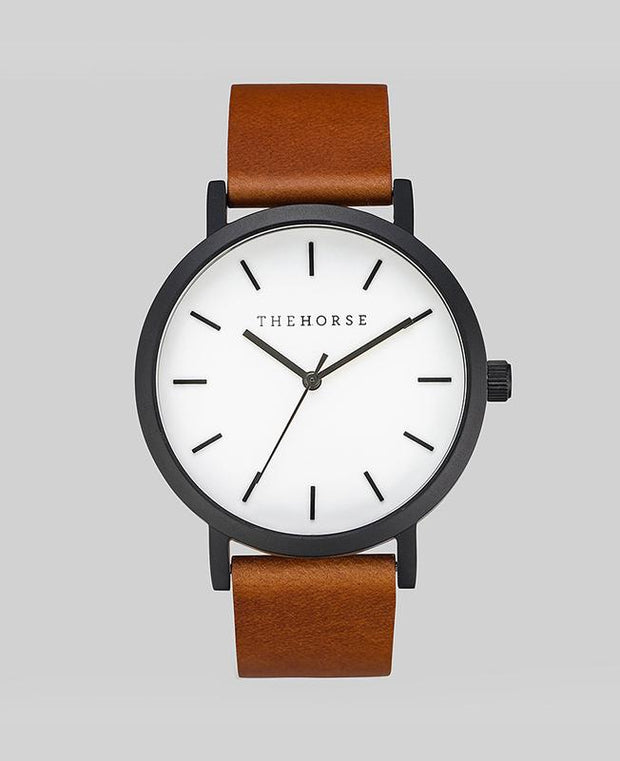 THE HORSE - The Original Watch, Tan/Black (White Face) - Makers On Mount