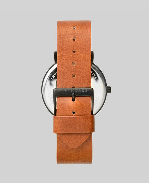 THE HORSE - The Original Watch, Tan/Black